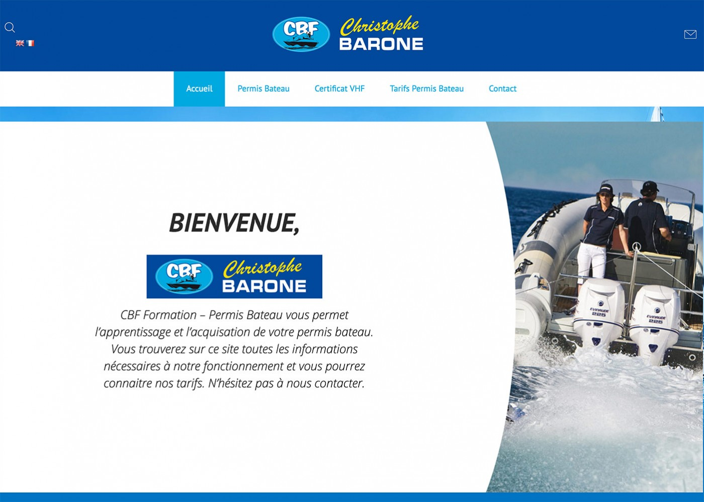 nouveau site internet CBF Permis Bateau Lyon Rhone