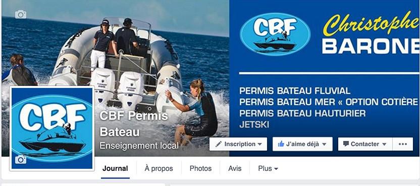 page facebook CB permis bateau lyon rhône